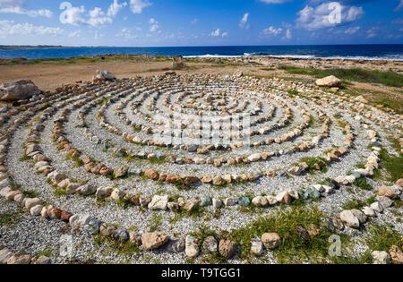 Stone circle Cyprus - Stock Image