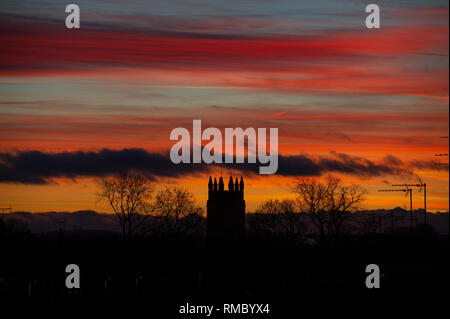 Sunset over Great Driffield in East Yorkshire - Stock Image
