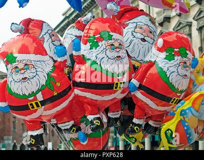 Santa Claus balloons - Stock Image