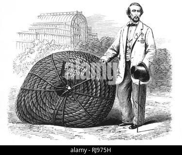 'Blondin' (JEAN-FRANCOIS GRAVELET) - with his tightrope in London - Stock Image
