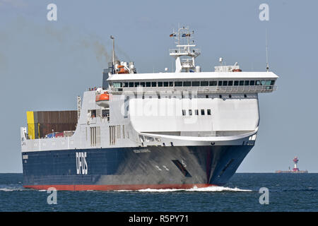 Regina Seaways and Kiel lighthouse - Stock Image