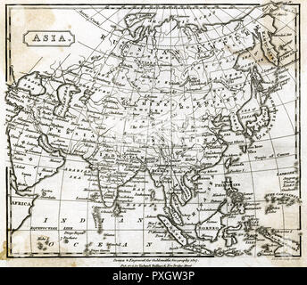 Map of Asia       Date: 1807 - Stock Image