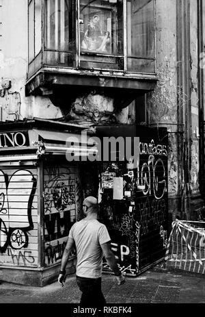 Naples, Italy. Votive aedicula - Stock Image