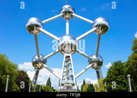 Brussels atomium Brussels Square de l'Atomium Boulevard de Centaire Brussels Belgium Eu Europe - Stock Image