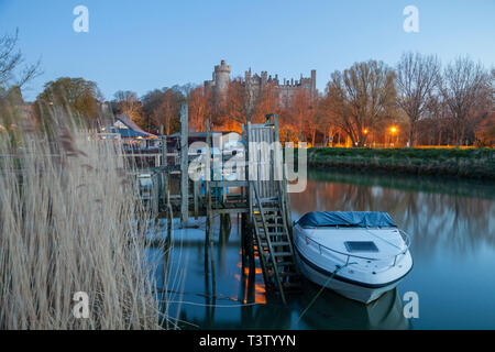 Dawn on river Arun in West Sussex, England. - Stock Image