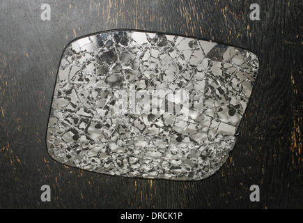 shattered broken rear view mirror - Stock Image