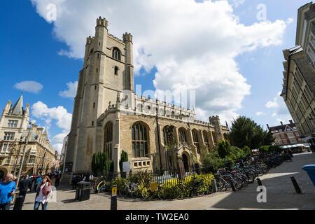 Great St Mary's university church Cambridge 2019 - Stock Image