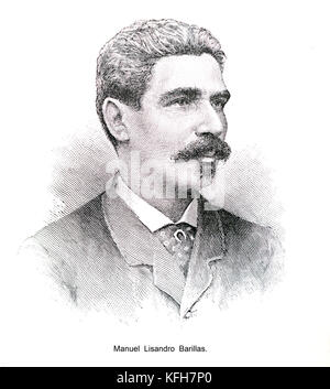 Manuel Lisandro Barillas. Guatemalan general and acting president of Guatemala from 6 April 1885 to 15 March 1886 - Stock Image