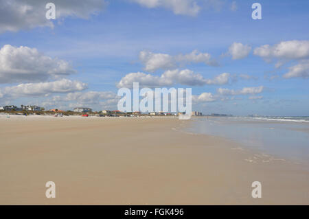 Beach in St. Augustine in winter, Florida, USA - Stock Image