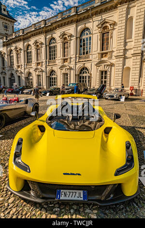 Piedmont Turin - Turin auto show 2019  - Valentino park - Valentino castle -Dallara - Stock Image