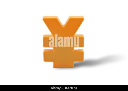 symbol of Chinese yuan - Stock Image