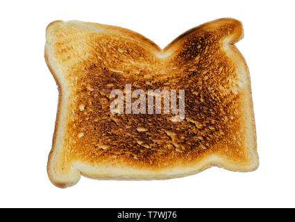 Slice of Toast on a White Background - Stock Image
