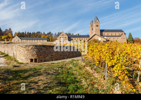 Eibingen Abbey (Abtei St. Hildegard) near Rüdesheim am Rhein, Germany. - Stock Image