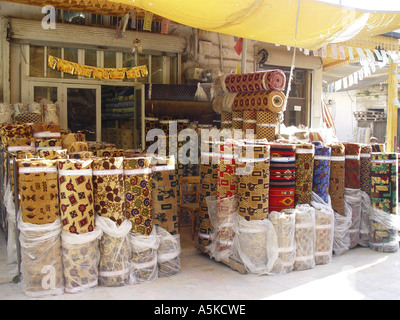 Carpets on the market in Aleppo - Stock Image