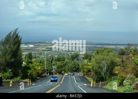 Small town Big Island hawaii - Stock Image