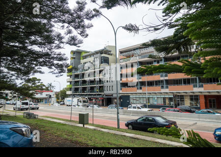 Apartments on Pittwater Road, Dee Why, Sydney. Australia. - Stock Image