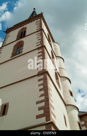 side of church looking skyward - Stock Image
