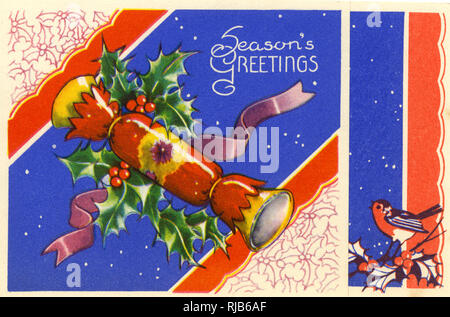 Christmas card, Season's Greetings. - Stock Image