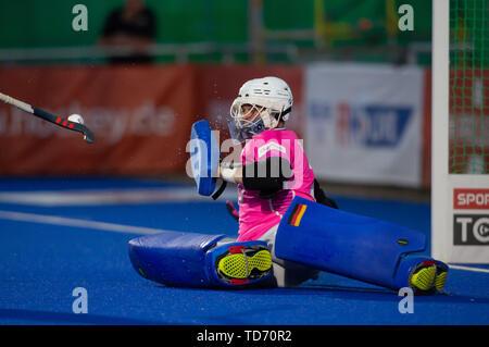 Krefeld, Germany, 12.06.2019, Hockey, FIH Pro League, men, Germany vs. Belgium: Tobias Walter (Germany) in action. - Stock Image