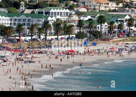 south africa cape town camps bay beach  - Stock Image