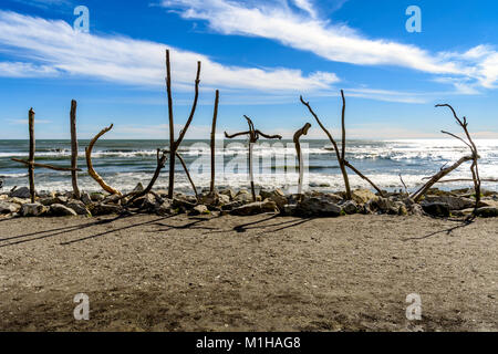 Driftwood town Sign - Stock Image