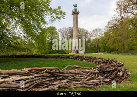 Duke of Bridgewater Monument Ashridge Estate UK - Stock Image