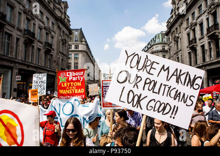 Stop Trump Demo London 13 July 2018 - Stock Image