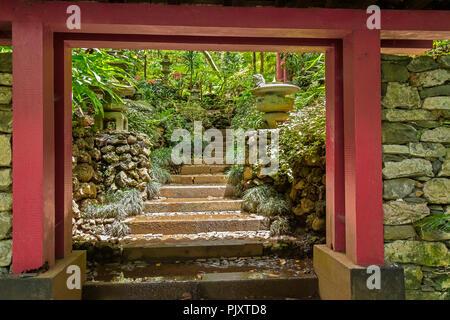 Japanese Garden Monte Palace Gardens Madeira Portugal - Stock Image