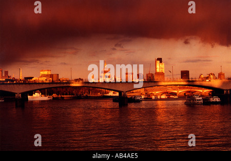 Waterloo Bridge, River Thames, London - Stock Image