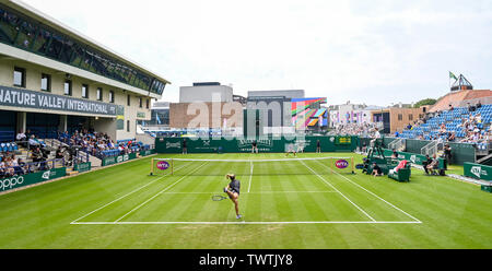 Eastbourne UK 23rd June 2019 - Katie Swan of Great Britain in action against Shuai Zhang of China at the Nature Valley International tennis tournament held at Devonshire Park in Eastbourne . Credit : Simon Dack / TPI / Alamy Live News - Stock Image