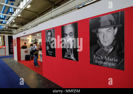 Turin, Piedmont, Italy, 10th May, 2018. International Book fair 2018,first day.BEAT publishers in partnership stand Credit: RENATO VALTERZA/Alamy Live News - Stock Image