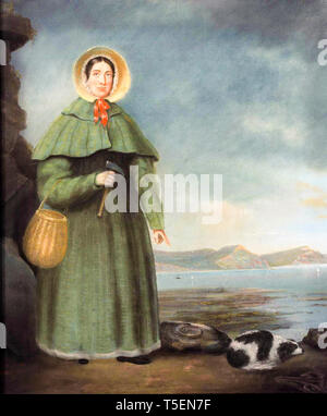 Mary Anning (1799-1847), posthumous portrait by B.J. Donne, 1847 - Stock Image