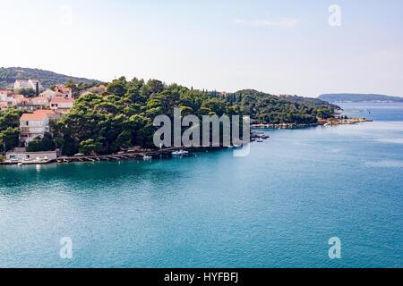 Sailing towards Dubrovnik, Croatia. - Stock Image