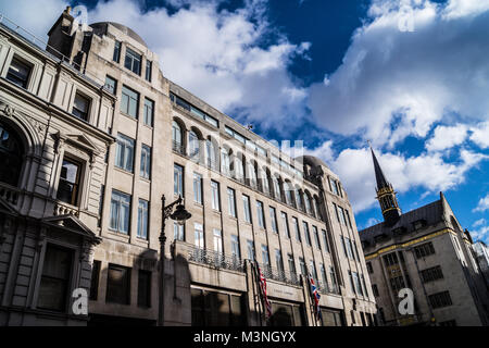 Art Deco office building by Edward A. Stone, 1929, formerly F.W. Woolworth, now Ralph Lauren, New Bond Street, London, - Stock Image