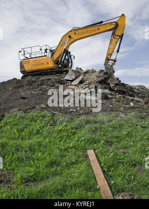 Yellow JCB - Stock Image