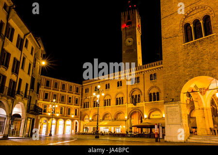 Piazza dei Signori - square in Treviso, Italy - Stock Image