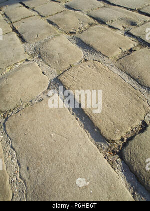Old Cobble Road Yorkshire UK - Stock Image