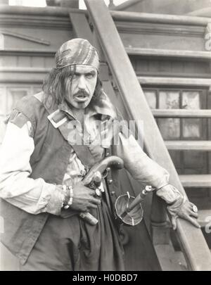 Portrait of a pirate - Stock Image