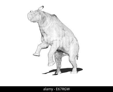 Dinosaurier Paraceratherium / dinosaur Paraceratherium - Stock Image