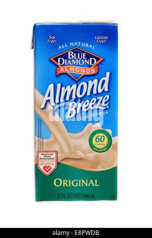 Blue Diamond Almond Breeze Almondmilk Original Flavor - Stock Image