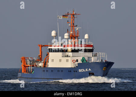Fishing support vessel Solea - Stock Image