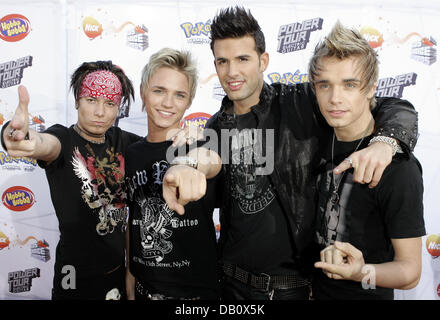 The band US 5 poses at the Kids Choice Awards at the Movie Park Bottrop, Cologne, 18 October 2007. Children and - Stock Image