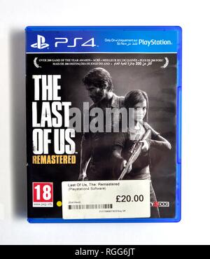 PS4 video game The Last of Us remastered - Stock Image