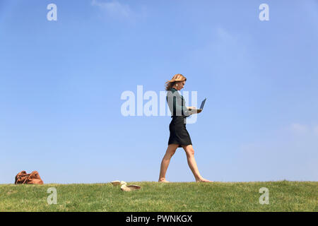 Young woman taking a break. Burn out - Stock Image