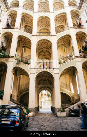 Naples (Italy) - The Spagnolo Palace is a Rococo or late-Baroque-style palace in Rione Sanità in central Naples. - Stock Image