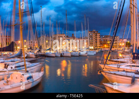 La Cala in Palermo, Sicily, Italy - Stock Image