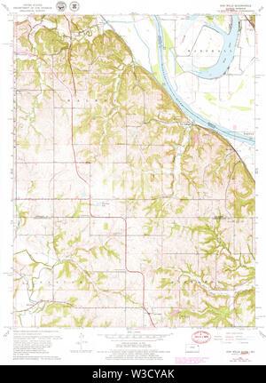 USGS TOPO Map Kansas KS Oak Mills 8030660 1961 24000 Restoration - Stock Image
