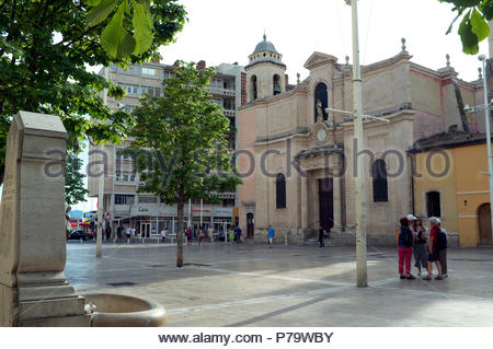 L'église Saint-François-de-Paule, in Toulon, in the Var department, Provence-Alpes-Côte d'Azur region, southern France. - Stock Image