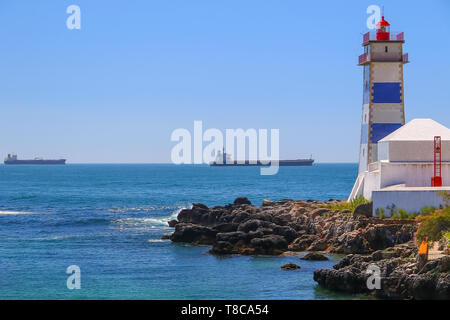 Lighthouse in Cascais, Portugal - Stock Image