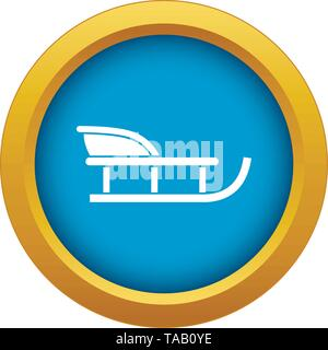 Sled icon blue vector isolated - Stock Image